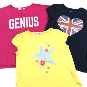Gap Girls Graphic Sequin Sparkle Tee (Set of 3)